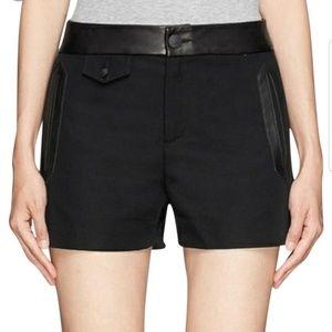 Rag & bone leather trimmed detailed shorts